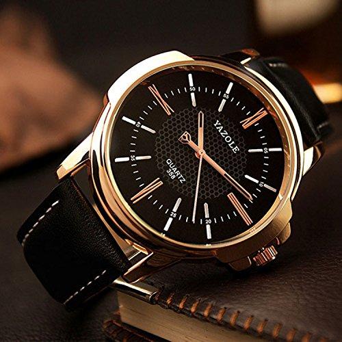 Rose Gold Wrist Watch Men 2017 Top Brand Luxury Famous Male Clock Quartz Watch Golden Wristwatch - Luxury Brands Famous