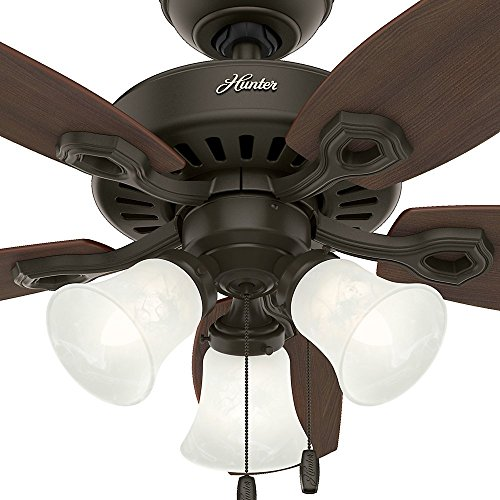 Hunter 52107 Builder Small Room 42-Inch New Bronze Ceiling Fan with Five Brazilian Cherry/Harvest Mahogany Blades and a Light Kit by Hunter Fan Company (Image #7)