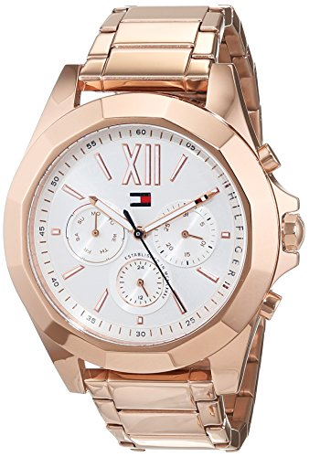 Tommy Hilfiger Women's Chelsea 38mm Rose Gold-Tone Steel Bracelet & Case Quartz Analog Watch 1781847
