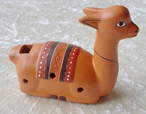 Okarina / Flöte (in Lama-Form, handgefertigt in Peru, Fair Trade)