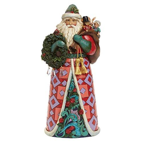 Jim Shore for Enesco Heartwood Creek Winter Wonderland Santa Figurine, 9.75-Inch (Jim Claus Shore Santa)