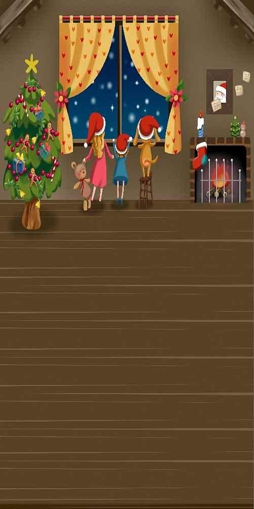 GladsBuy 室内用クリスマスツリー 10フィート x 20フィート デジタルプリント写真背景 クリスマステーマ背景 YHA-463   B073G2DM5Z