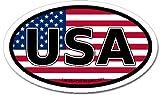 america flag sticker - LandsAndPeople.com United States of America USA Flag Car Bumper Sticker Decal Oval