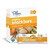 Plum Organics Mighty Snack Bars, Organic Toddler Snack, Pumpkin Banana, 0.67 Ounce Bars, 6 Count (Pack of 8)