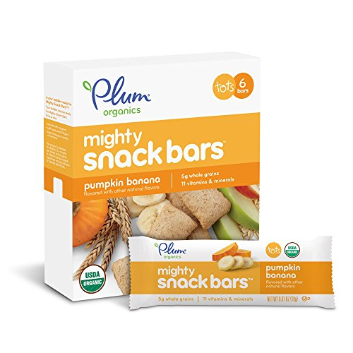 Toddler Pumpkin (Plum Organics Mighty Snack Bars, Organic Toddler Snack, Pumpkin Banana, 0.67 Ounce Bars, 6 Count (Pack of 8))