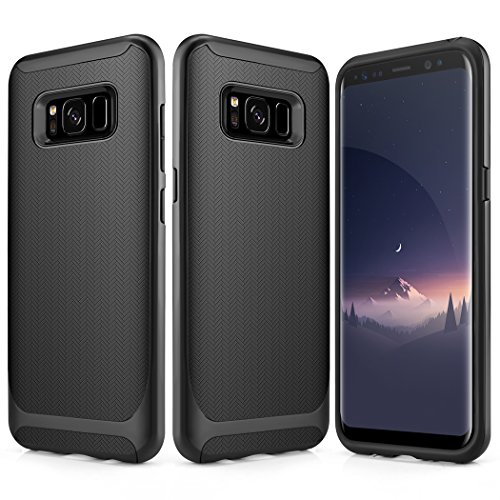 Galaxy S8 Plus Case, Besiva for Ultra Thin & Light Reinforced Frame Durable Shock-Absorption Flexible Soft TPU Bumper Hybrid Protective Case for Galaxy S8 Plus Case (Black)