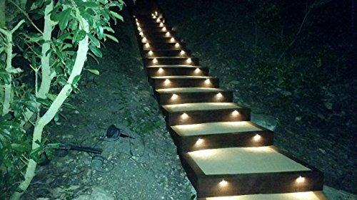 FVTLED 30pcs Low Voltage LED Deck Lights kit Φ1.38'' Outdoor Garden Yard Decoration Lamp Recessed Landscape Pathway Step Stair Warm White LED Lighting, Bronze by FVTLED (Image #6)