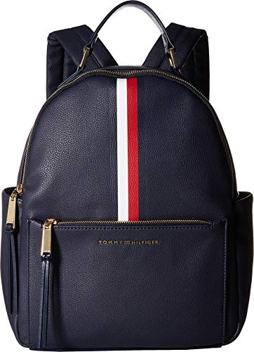 (Tommy Hilfiger Women's Althea Pebble PVC Backpack Tommy Navy One Size)
