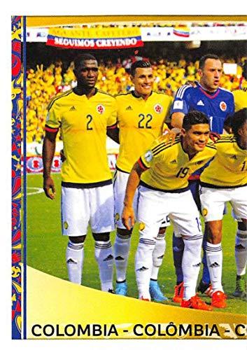 2016 Panini Copa America Centenario Soccer Sticker #39 Columbia Team Photo 1 2 Inch wide X 3 inch tall album sticker