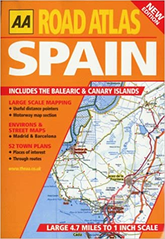 Road Atlas Spain and Portugal AA Atlases S. Idioma Inglés: Amazon ...