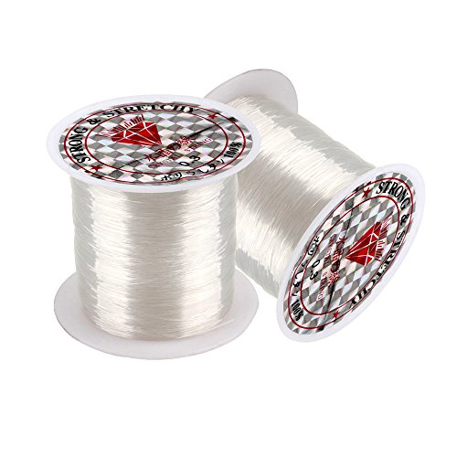 Fishing Line Clear (Senzeal 2X 0.3mm Diameter Monofilament Fishing Line, Fishing Line Clear Nylon Fishing Thread 100 Meters)
