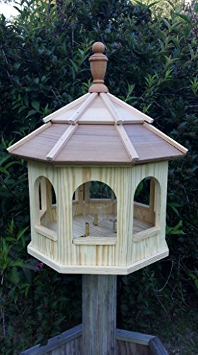 Amish Crafted Wooden Gazebo Birdfeeder (Large) (Gazebo Feeder)