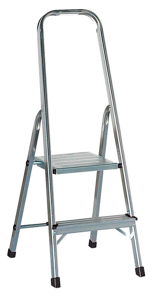 Draak Step Ladder 2 Step - Non Slip Treads - Ladder Made From Lightweight Aluminium Certified to BS EN 131 Part 1-3 DRAAK-ALUM-SL-2