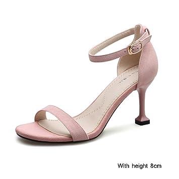 07c17fac9dba95 KaiGangHome Sandales d été chaussures sauvages fines avec des chaussures à  talons hauts mot boucle
