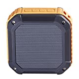 Soundmy Portable Wireless Bluetooth Speaker with NFC waterproof dustproof and Shockproof for Indoor&Outdoor 3W Hi-def Bass with Rechargeable Longer Battery Time (Orange Color)