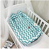 Newborn Portable Multi-Functional Travel Bed,Cotton Infant Bassinet,Detachable Baby Crib Baby Nest (Blue)