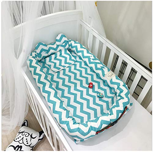 Newborn Portable Multi-Functional Travel Bed,Cotton Infant Bassinet,Detachable Baby Crib Baby Nest (Blue) by BestBang