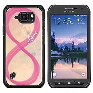 LECELL--Funda protectora / Cubierta / Piel For Samsung Galaxy S6Active Active G890A -- amar cielo rosado infinito amarilla romántica --
