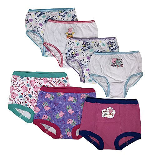 (Peppa Pig Girls Potty Training Pants Panties Underwear Toddler 7-Pack Size 3T, Multi)