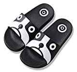 iDuoDuo Boy's Girl's Cool Cartoon Summer Slippers Anti-Slip Slide Sandals (10 M US Toddler, Black (Dog))