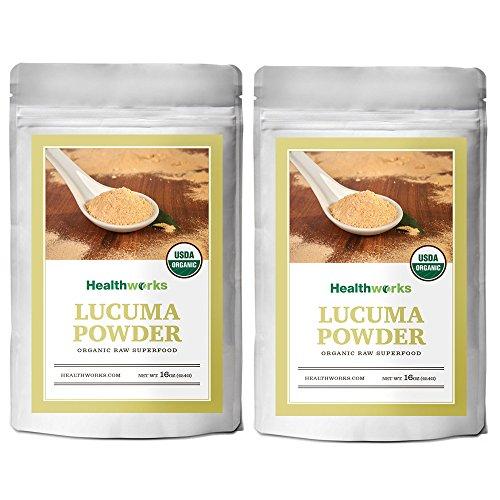 Healthworks Lucuma Powder Raw Organic, 2lb (2 1lb Packs)