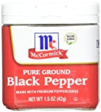 McCormick Ground Black Pepper, 1.5 Ounce (Pack of 12)