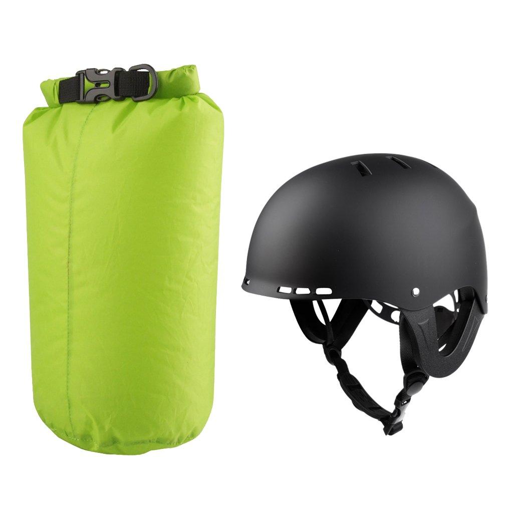 Gazechimp Casco Acuático para Kayak Canotaje Surf + 8L Bolsa Seca Impermeable