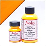 Angelus Acrylic Leather Paint- 1 Oz.- Sunset Yellow