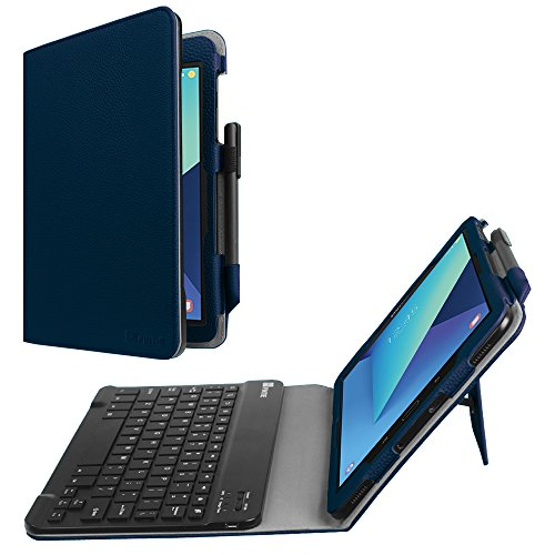Fintie Keyboard Case for Samsung Galaxy Tab S3 9.7, Premium PU Leather Stand Cover with S Pen Protective Holder Detachable Wireless Bluetooth Keyboard for Tab S3 9.7(SM-T820/T825/T827), Navy