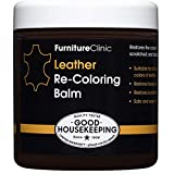 Furniture Clinic Leather Recoloring Balm (Bordeaux) - Renew, Restore & Repair Color to Faded and Scratched Leather | 21 Color Choices, Works on Couches, Car Seats, Clothing & Purses - 8.5 Fl. Oz