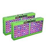 [Pack of 2]MarsHdyro Reflector96 LED Grow Light 207W True Watt Panel with Veg Flower Switchable Spectrum