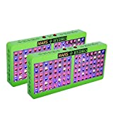 [Pack of 2]MarsHdyro Reflector96 LED Grow Light 207W True Watt Veg and Flower Switchable Spectrum for Indoor Greenhouse/Garden
