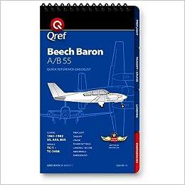 Amazon com: Beech Baron A/B55 Qref Checklist Book