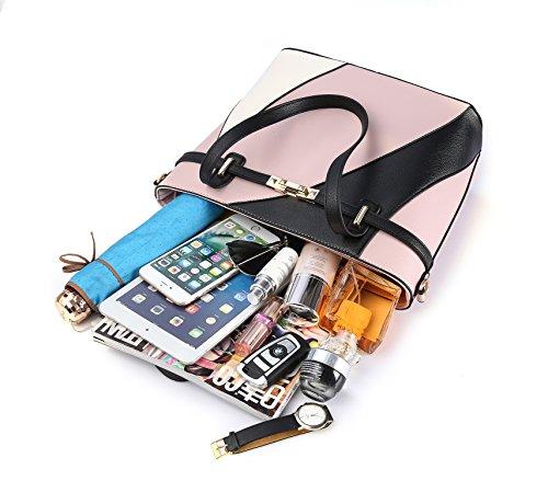 Top Handle Bags for Women Leather Tote Purses Handbags Satchel Crossbody Shoulder Bag form Nevenka (Red) by Nevenka (Image #5)