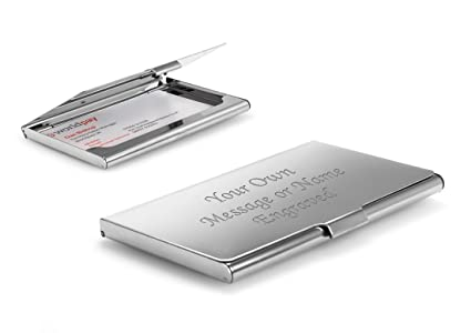 Amazon personalised high polished chrome business card holder personalised high polished chrome business card holder in presentation box we will engrave for you colourmoves