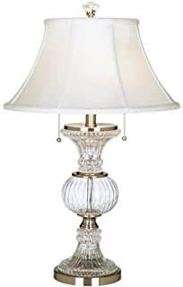 Cut Glass Urn With Brass Accents Table Lamp - Crystal Lamp ...:Dale Tiffany GT60653 Granada Table Lamp, Brushed Nickel,Lighting