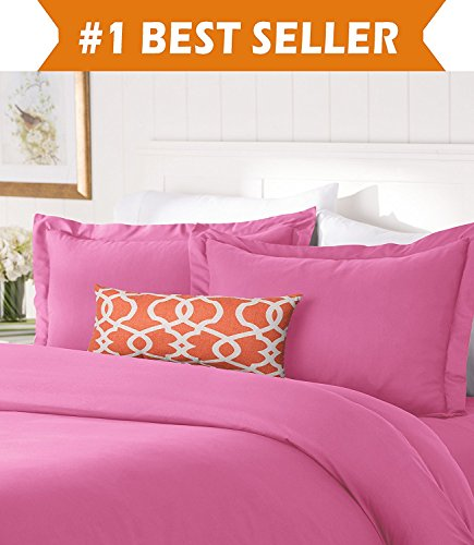 Comforter Pink Solid - Elegant Comfort #1 Best Bedding Duvet Cover Set! 1500 Thread Count Egyptian Quality Luxurious Silky-Soft Wrinkle Free 2-Piece Duvet Cover Set, Twin/Twin XL, Light Pink