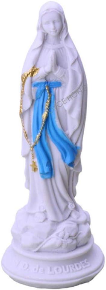DAFEIJI Ornament Garden Figurine Decoration Virgin Mary Statue Figure Figurine Resin Our Lady of Lourds Saint