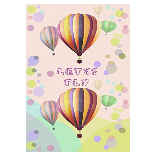 Pingshoes Colorful Hot Air Balloons Polyester Garden Flag Ou