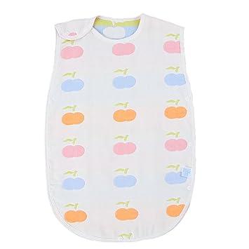 31de5f29a7027 AKC ベビー スリーパー 6重ガーゼ パジャマ コットン 寝袋 赤ちゃん 出産祝い (リンゴ)