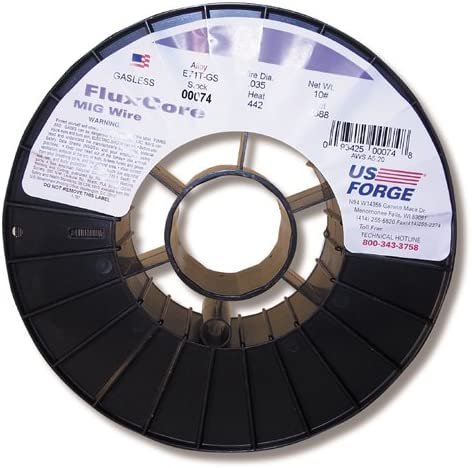 Hobart H222108-R22 10-Pound E71T-11 Carbon-Steel Flux-Cored Welding Wire 0.035-Inch