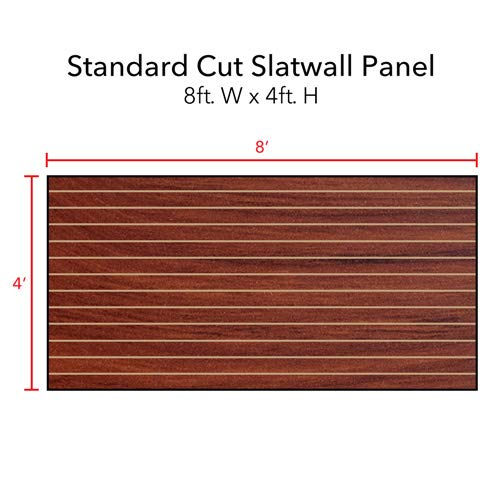 Horizontal Slatwall Panels with Cherry Finish in 4 Feet H x 8 Feet W by Slatwall Panel (Image #3)