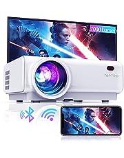 """Mini beamer, WiFi Bluetooth beamer projector, beamer 7000 lumen Full HD 120"""", ondersteuning 1080P Full HD multimedia-apparaten 【Energie-efficiëntieklasse: A++】 (wit)"""