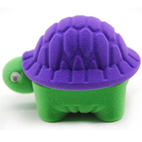 Yiphates Cute Turtle Jewelry Storage Box Velvet Earrings Ring Holder Storage Gift Case for Girls Woman, Purple for $<!--$3.99-->