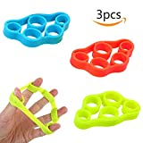 Finger Stretcher Resistance Bands Hand Extensor Exerciser Finger Grip Strengthener Strength Trainer for Forearm Exercise Guitar Finger Strengtheners and Rock Climbing Grips