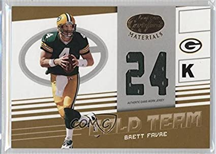 Leaves Are Turning And Brett Favre Is >> Amazon Com Brett Favre 40 75 Football Card 2004 Leaf Certified