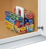 Kitchen Storage Stand YouCopia StoreMore Adjustable WrapStand Organizer, White