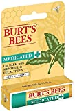 Burt's Bees Medicated Lip Balm, Menthol & Eucalyptus 0.15 oz (Pack of 7)
