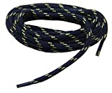 Navy Blue w/ Yellow Kevlar proTOUGH(tm) Reinforced Heavy Duty Boot Laces Shoelaces (2 Pair Pack) (60 Inch 152 cm)