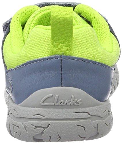 Clarks Brontoglow Inf, Zapatillas para Niños Azul (Blue Combi)